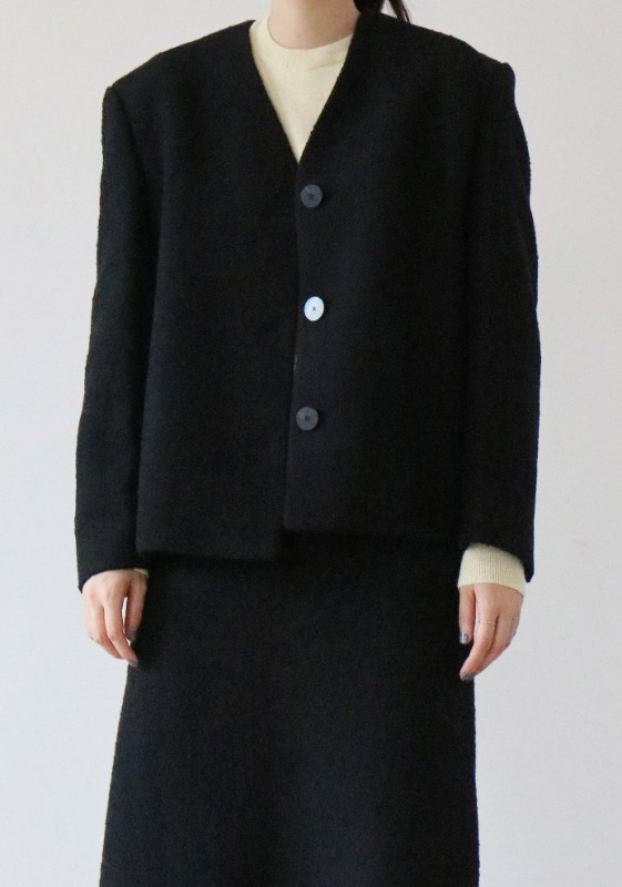 WOOL BLACK JACKET