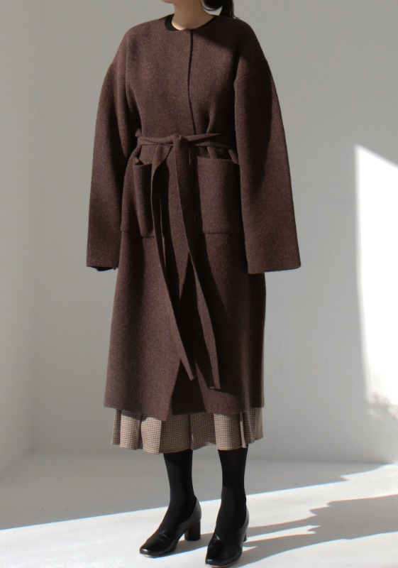 MILLENNIUM KNIT COAT (D/BROWN)