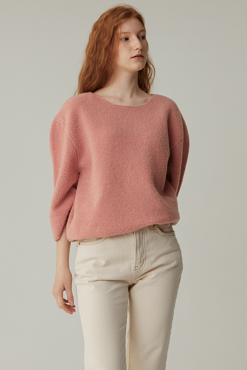 CHAGALL BOUCLE KNIT (ROSE PINK)