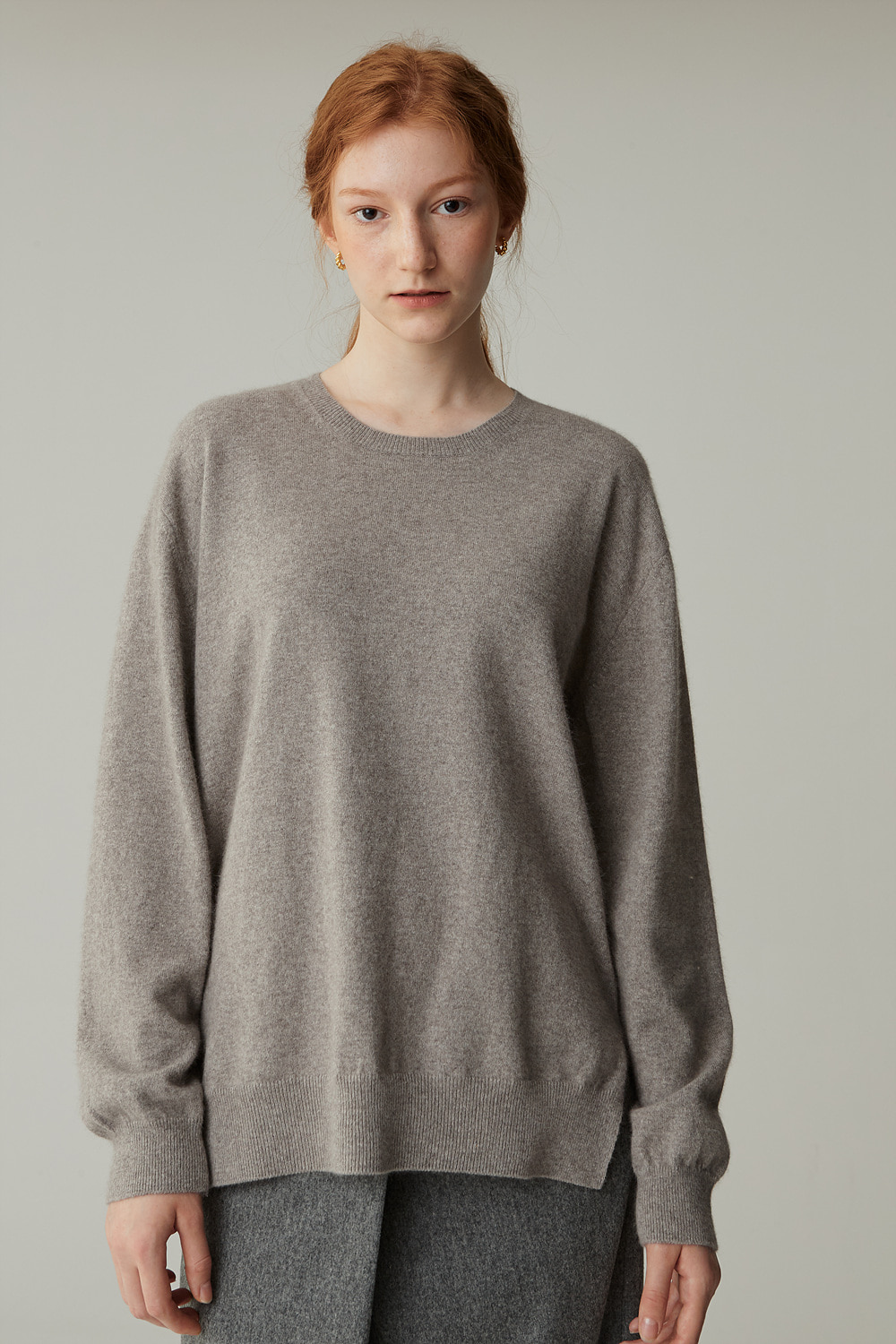 FOX CREWNECK KNIT (NATURAL HALF)