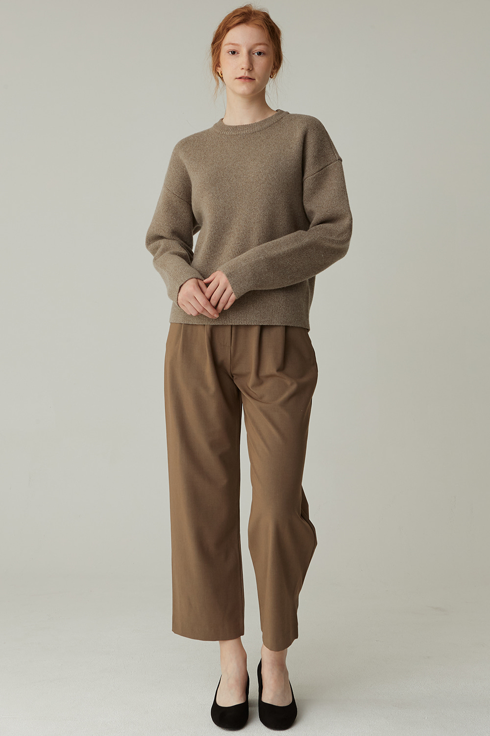 AIR WOOL KNIT (L/KHAKI)