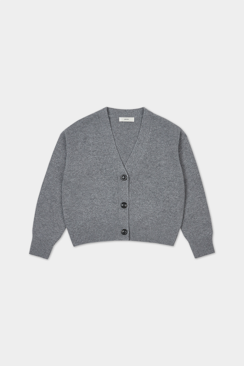 20FW CASHMERE BLENDED CARDIGAN (GREY) - 3COLOR