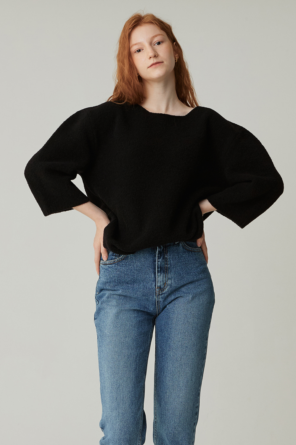 CHAGALL BOUCLE KNIT (BLACK)