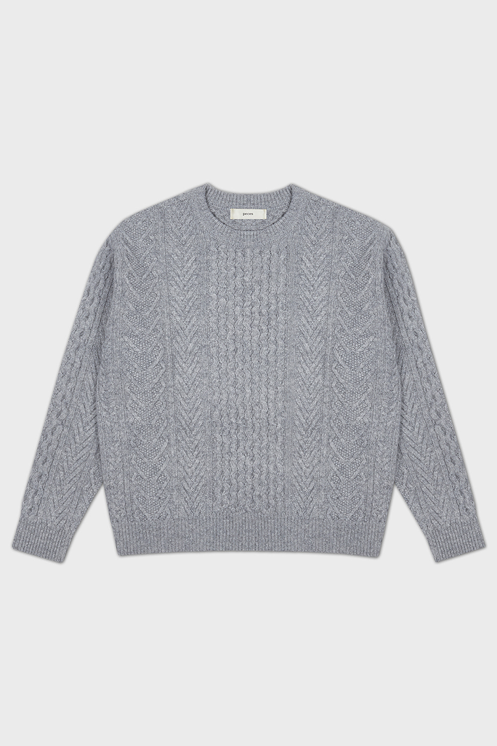 WOOL CABLE KNIT (LM/GRAY)