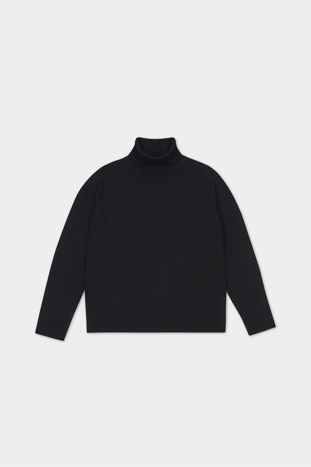 MERINO WOOL TURTLENECK KNIT (BLACK)