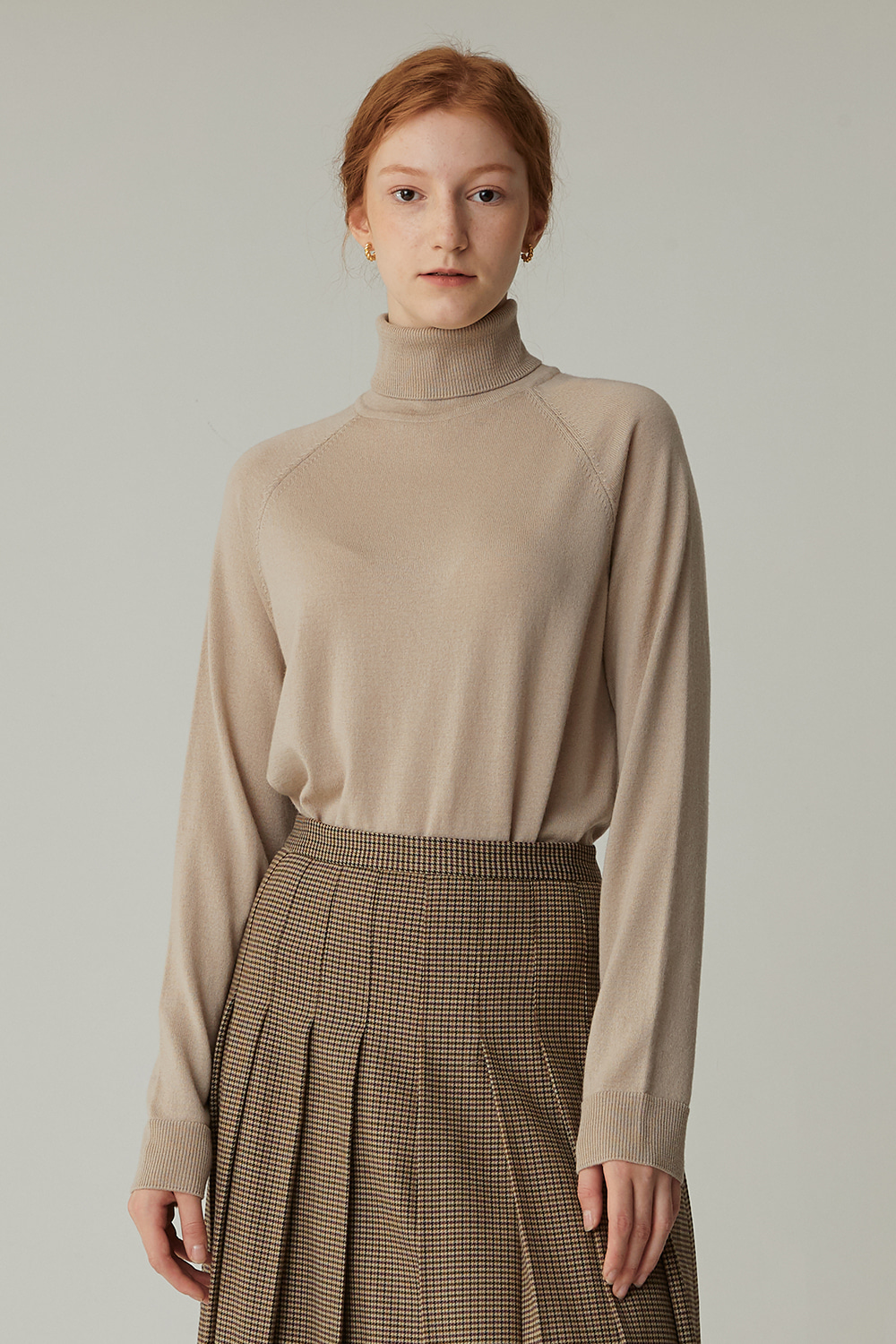 MERINO WOOL TURTLENECK KNIT (EGGNOG)