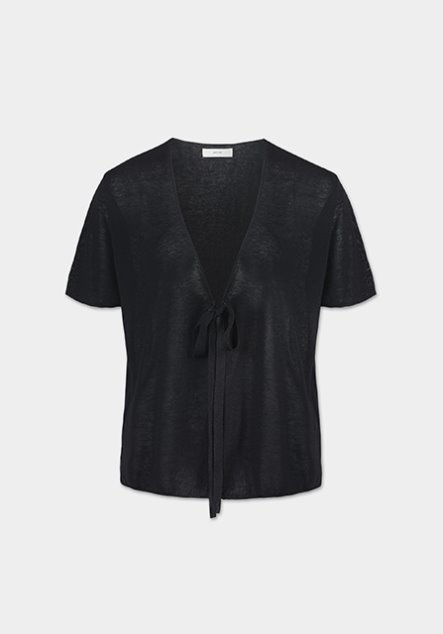 [SET] LINEN CARDIGAN (BLACK)