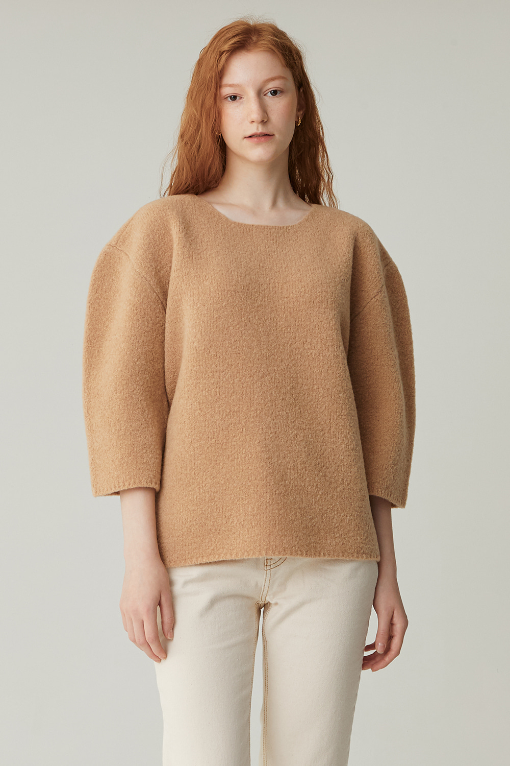 CHAGALL BOUCLE KNIT (CAMEL)