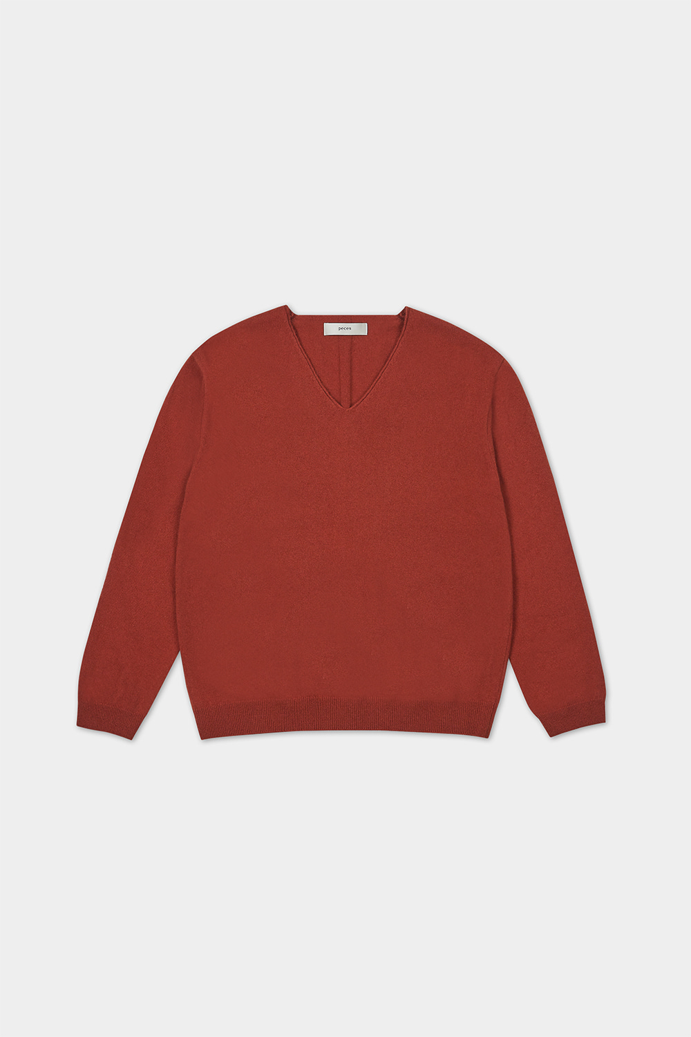 CASHMERE BLENDED KNIT (RUST BROWN)